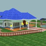 Blue Roof Bungalow in AutoCAD 2015
