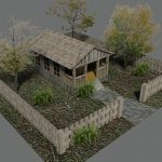 AutoCAD 3D Cottage